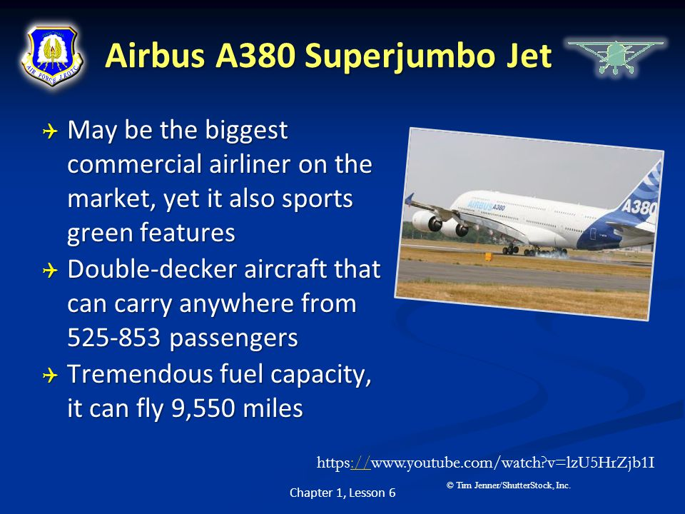Airbus A380 Superjumbo Jet  May be the biggest commercial airliner on the market, yet it also sports green features  Double-decker aircraft that can
