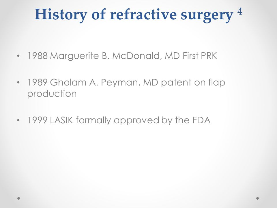 History of refractive surgery 4 1988 Marguerite B.