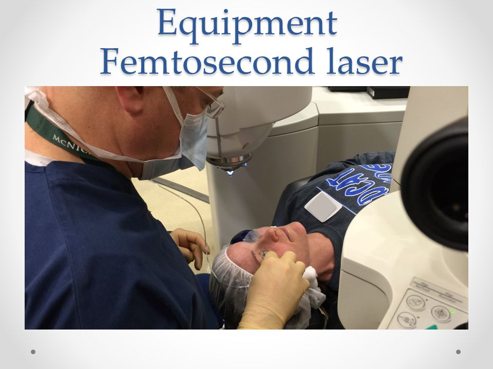 Equipment Femtosecond laser