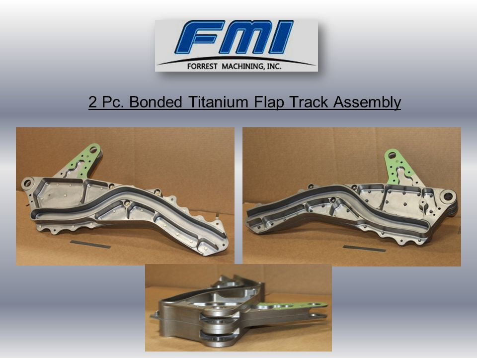 2 Pc. Bonded Titanium Flap Track Assembly