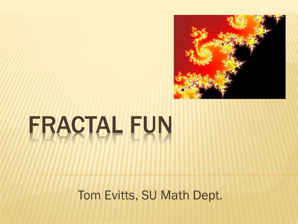 Tom Evitts, SU Math Dept.