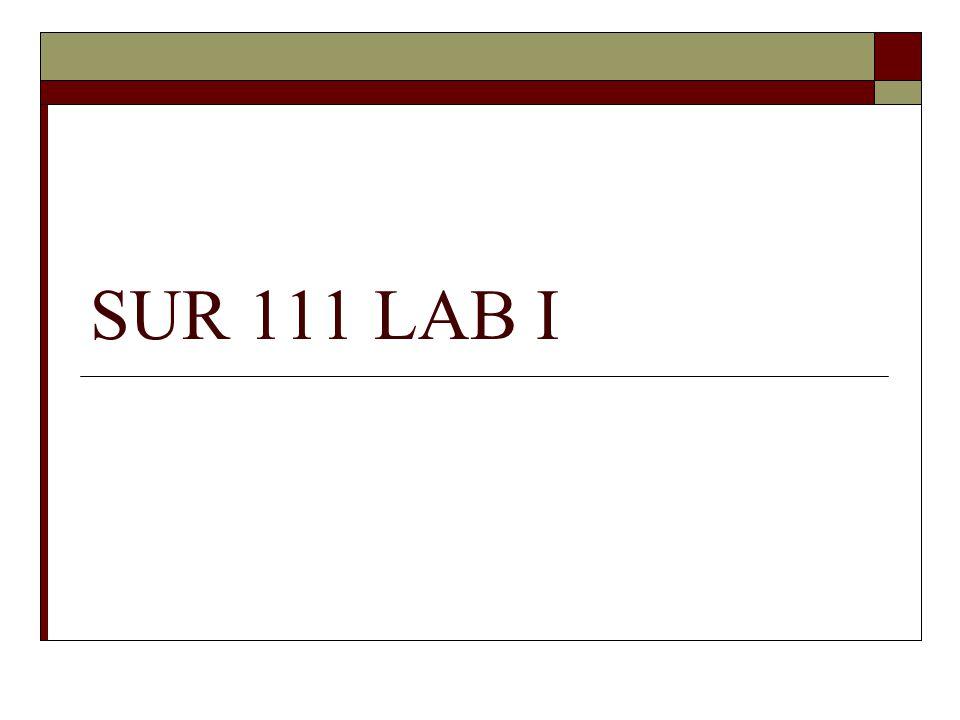SUR 111 LAB I