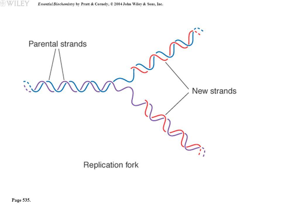 Essential Biochemistry by Pratt & Cornely, © 2004 John Wiley & Sons, Inc. Page 535.