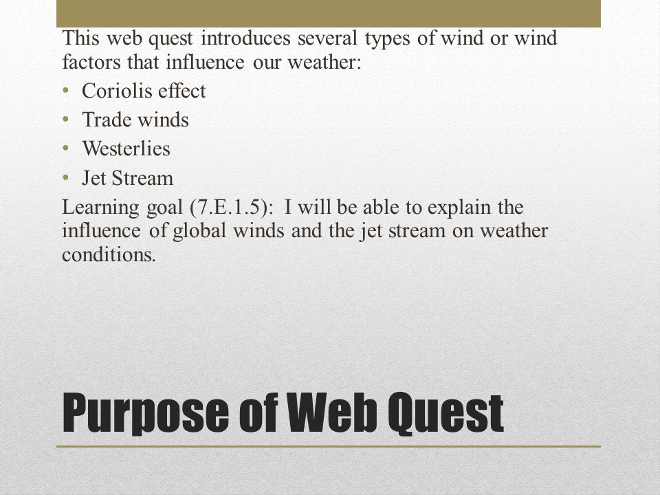 Tasks Create a 4-flap foldable to be used to describe the winds or wind factors that affect our weather.