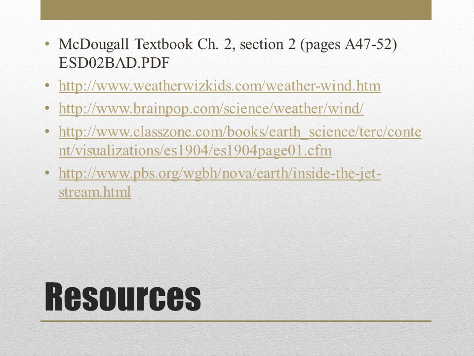 Activity Investigate Coriolis Effect 1)Read the investigation on page A49.