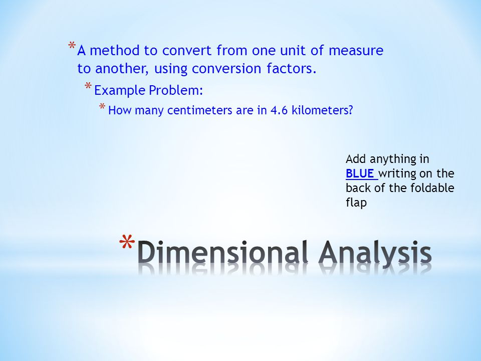 * A method to convert from one unit of measure to another, using conversion factors.