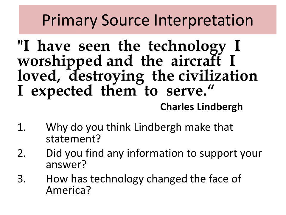 Primary Source Interpretation