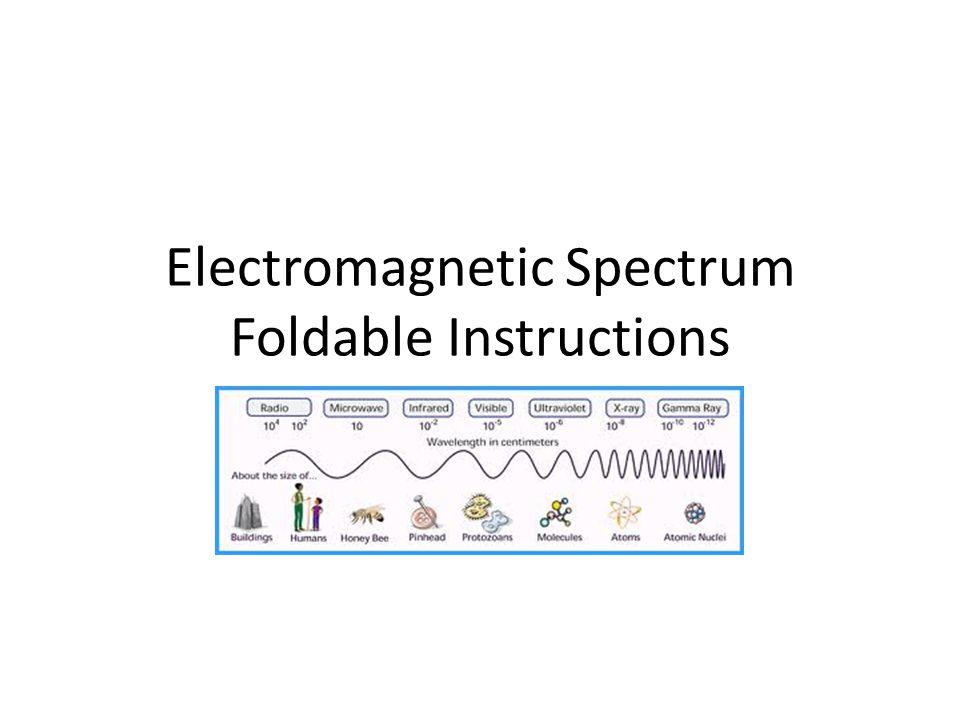 Electromagnetic Spectrum Foldable Instructions