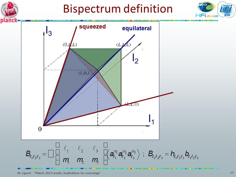 "l3l3 l2l2 l1l1 squeezed Bispectrum definition equilateral 25 M. Liguori ""Planck 2013 results, implications for cosmology"