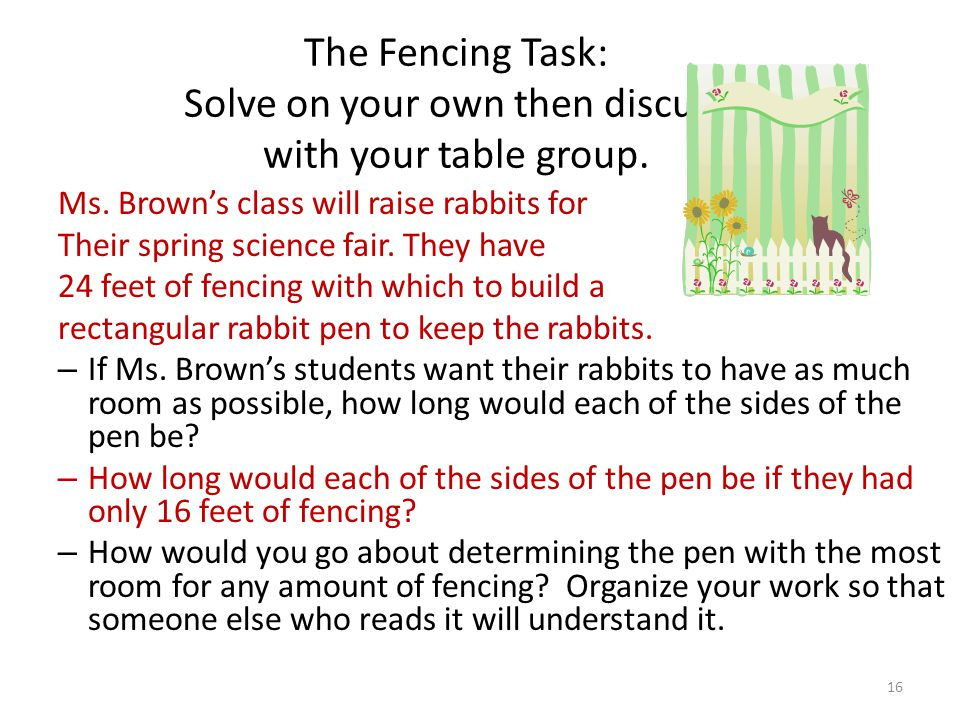 Ms. Brown's class will raise rabbits for Their spring science fair.