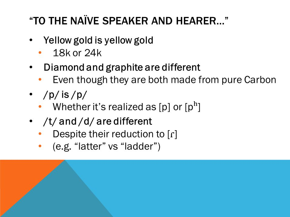 NATIVE SPEAKER ERRORS OF ANALYSIS Trained Native Speaker (NS) transcribers of Amerindian languages Valuable evidence for the phonemic structure of the language It is exceedingly difficult, if not impossible, to teach a native to take account of purely mechanical phonetic variations which have no phonemic reality for him (48).