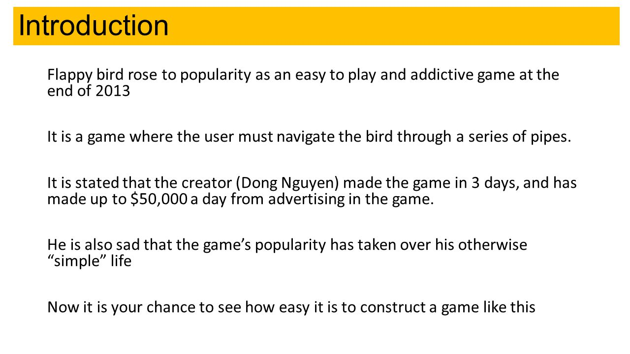 Objectives Apply previous skills to put together basic blocks within Scratch to create an app-style game Extend knowledge about variables and how you can affect the difficulty within a game L5 – Get most of the basic game working without help.
