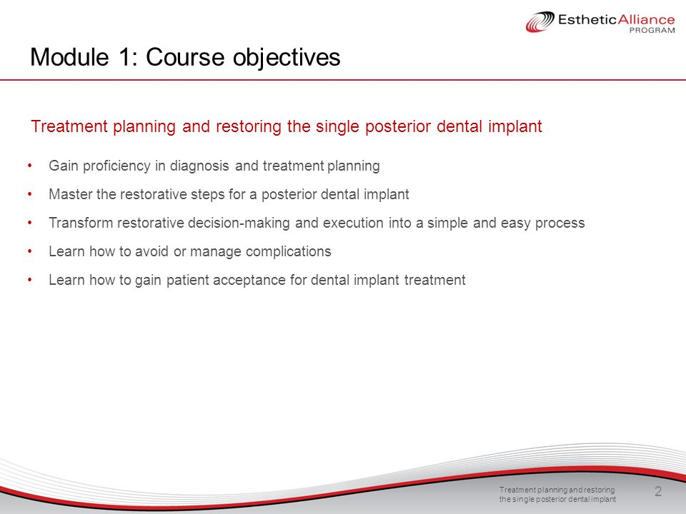 Treatment planning and restoring the single posterior dental implant 13 Guidelines for abutment selection Issues to be considered: Implant-abutment connection Distance from the implant platform to bone crest Interocclusal distance Depth of peri-implant soft tissues Biotype of the tissue Emergence profile Shape and contour of the tissue Screw-retained/cement-retained