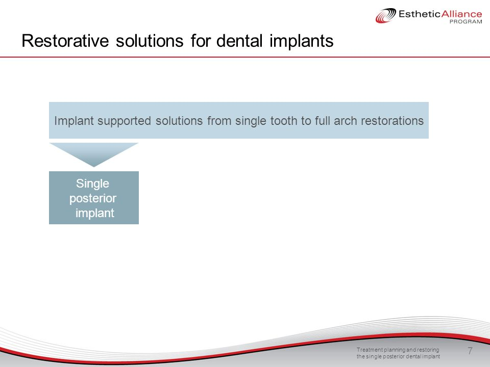 Treatment planning and restoring the single posterior dental implant 48 Occlusion and biomechanics FBite  FN1 FNx1 FBite  FN2 FNx2 The steeper the line of contact, the stronger the resulting force The force necessary to equalize the vertical bite force is higher, when the line of contact is steeper In the dental environment, the occlusion should be shallow or flat in order to reduce the lateral forces impacting on the occlusion →it is recommended to create shallow or flat occlusion lines to reduce the overload risk