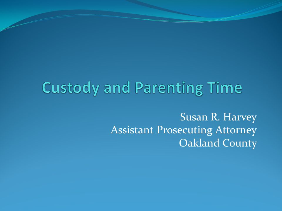 What is the role of the Prosecutor's Office in custody and parenting time?