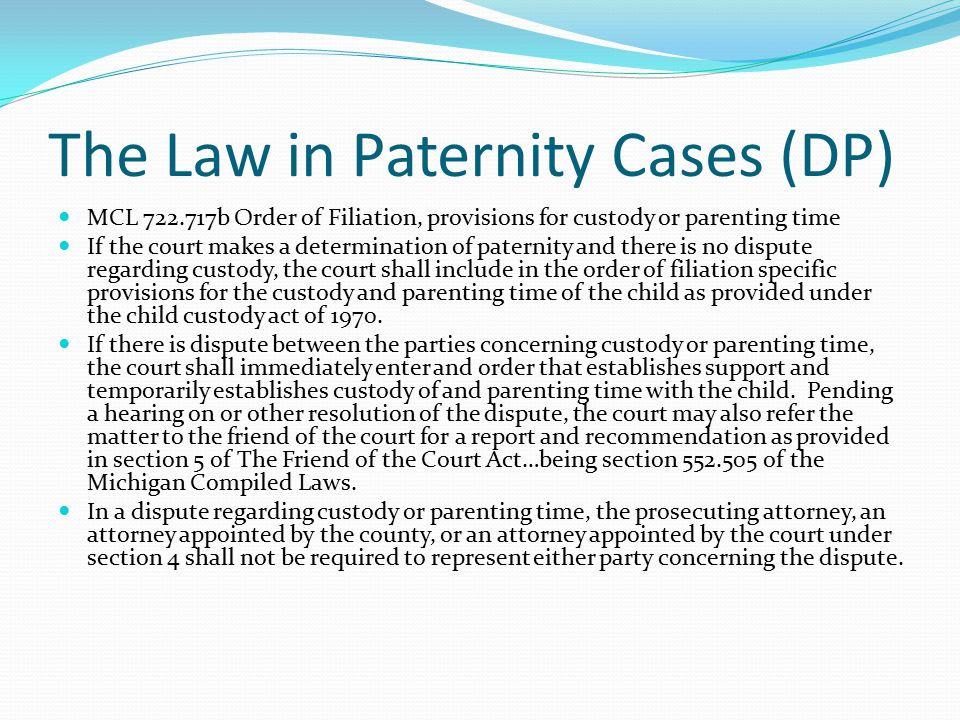 Wrap it up Final Order Order of Reference to FOC Small issues in front of Judge Set case for custody, parenting time trial