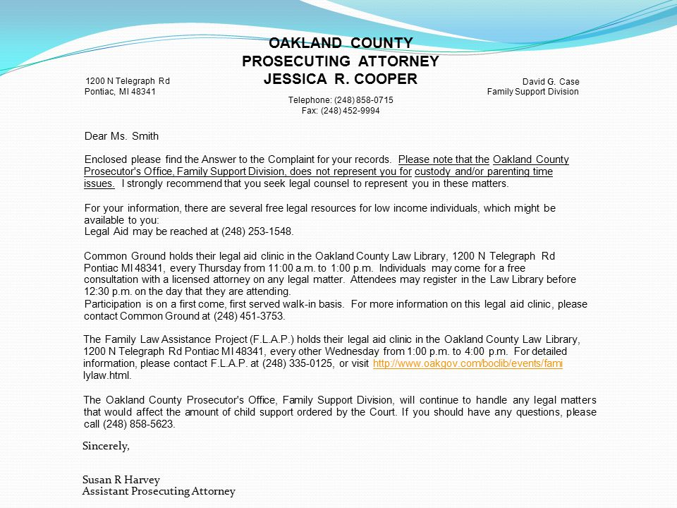 OAKLAND COUNTY PROSECUTING ATTORNEY JESSICA R.