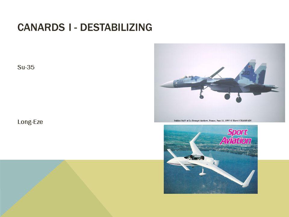 CANARDS I - DESTABILIZING Su-35 Long-Eze