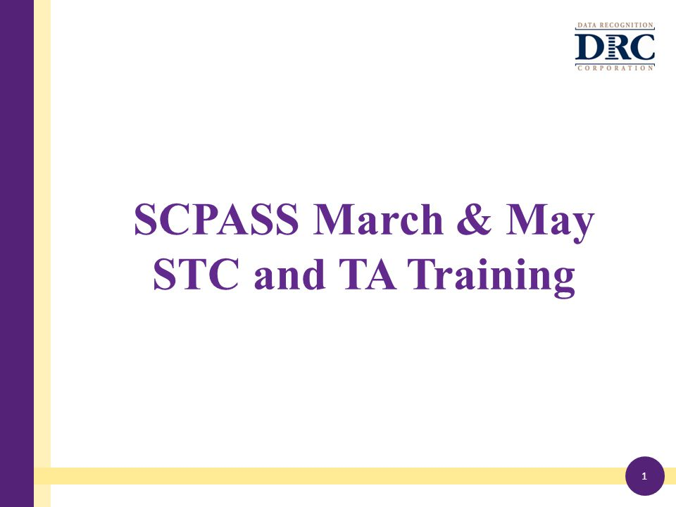 SCPASS March & May STC and TA Training 1