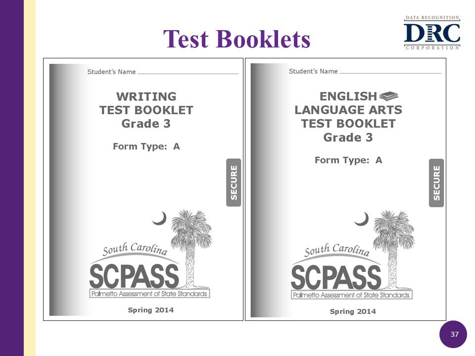 Test Booklets 37