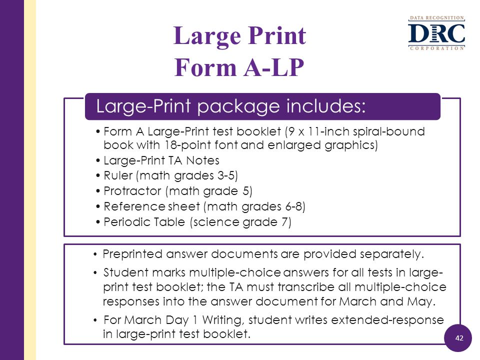 Preprinted answer documents are provided separately.
