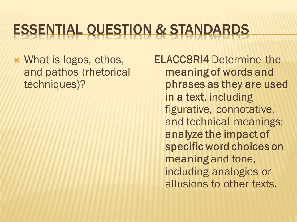  What is logos, ethos, and pathos (rhetorical techniques).
