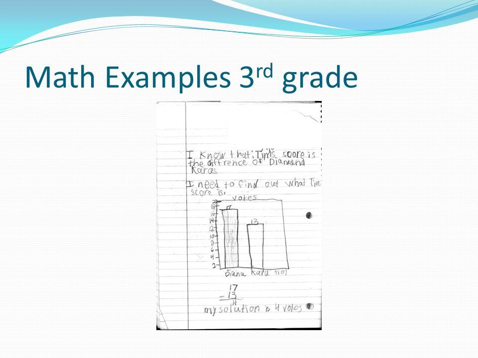 Math Examples 3 rd grade
