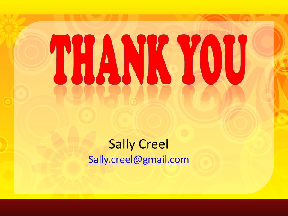 Sally Creel Sally.creel@gmail.com