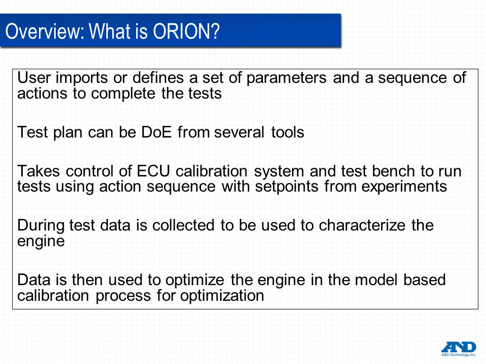 Overview: What is ORION.