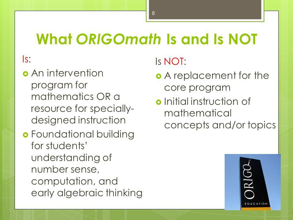 Origo handbook Optional: Building are encouraged to purchase