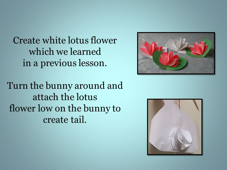 Create white lotus flower which we learned in a previous lesson.