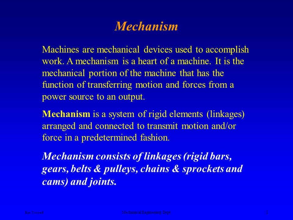 Ken Youssefi Mechanical Engineering Dept. 21 The Slider-Crank Mechanism