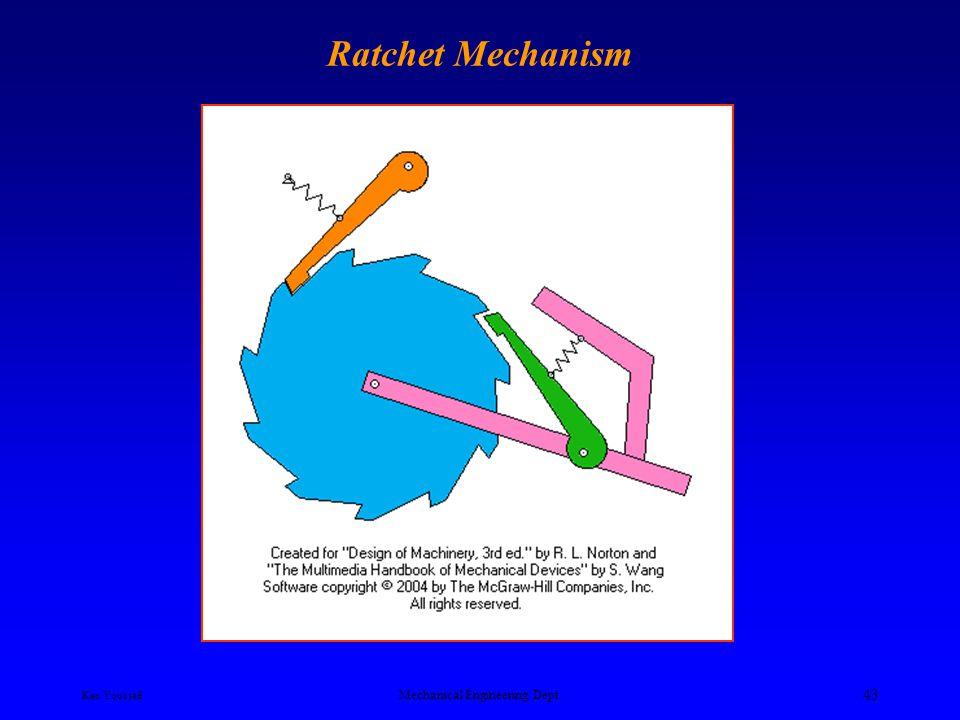 Ken Youssefi Mechanical Engineering Dept. 42 Linear Geneva Mechanism
