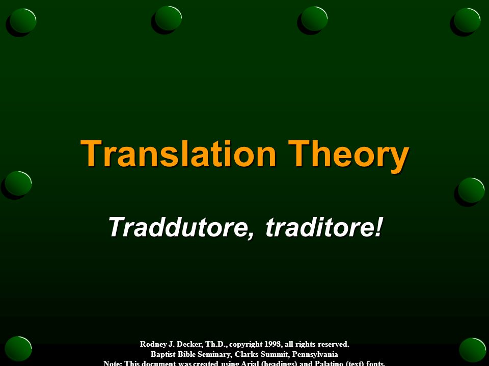 of contemporary translations Range of contemporary translations