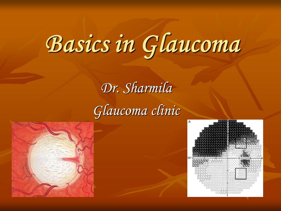 Basics in Glaucoma Dr. Sharmila Glaucoma clinic