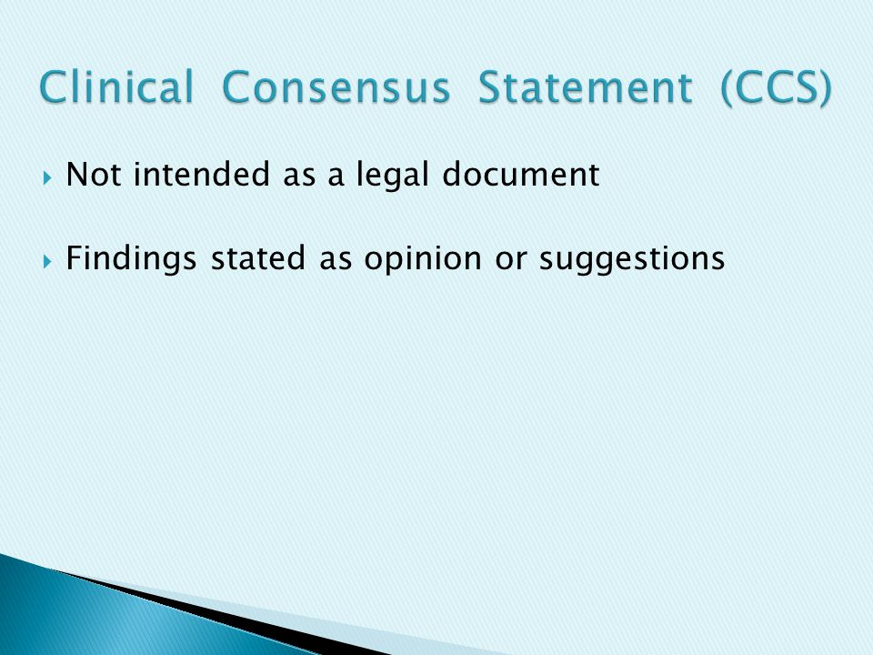  Not intended as a legal document  Findings stated as opinion or suggestions