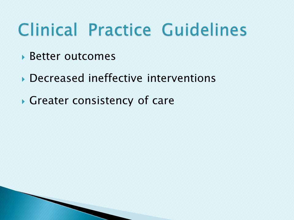  53 guidelines  99 systematic reviews  3,964 RCTs and observational studies