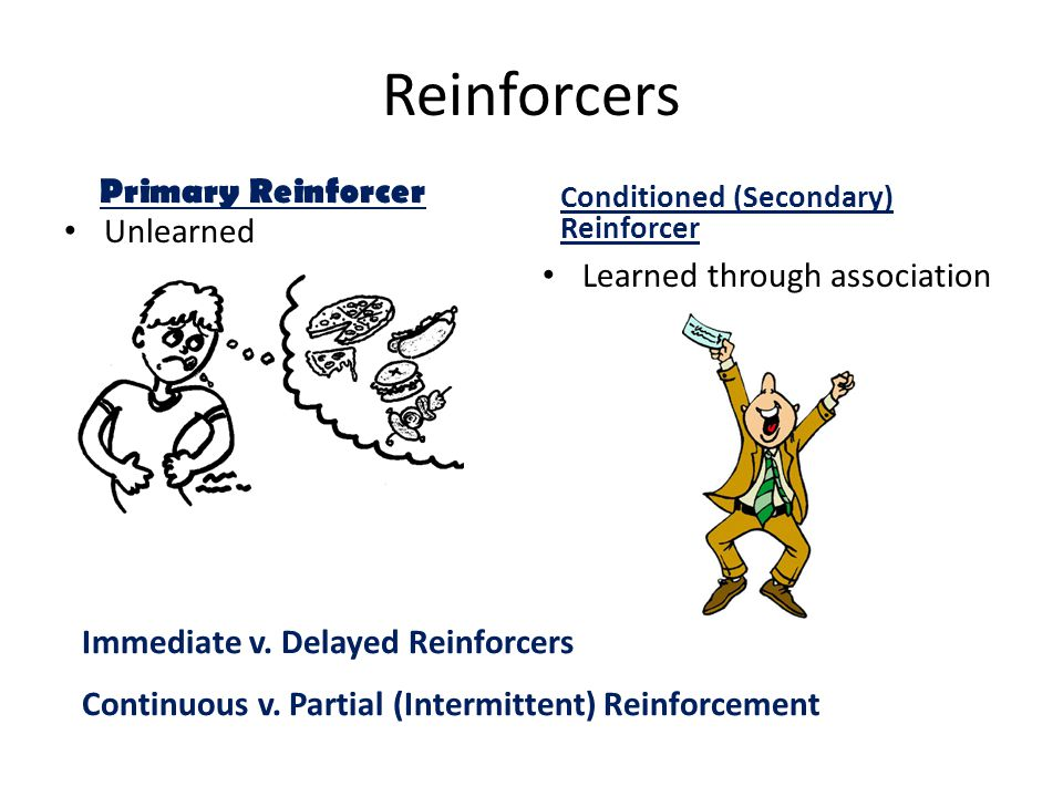 Reinforcers Immediate v.