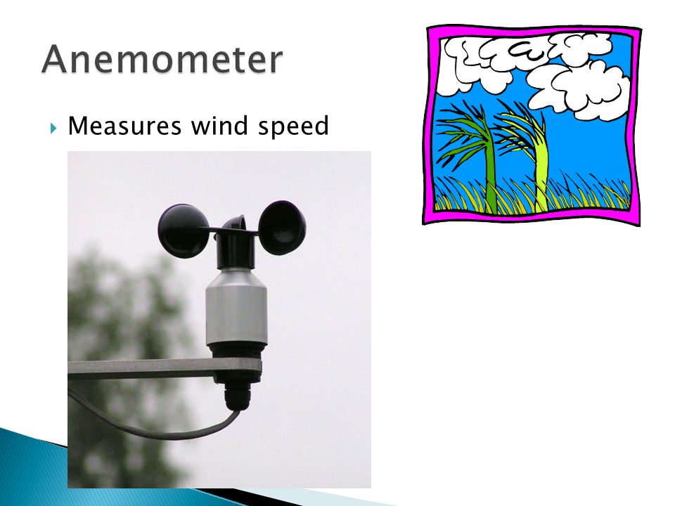  Measures wind speed