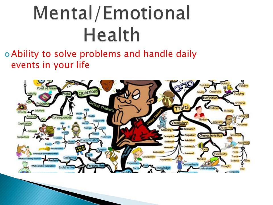 Mental/Emotional Health Ability to solve problems and handle daily events in your life
