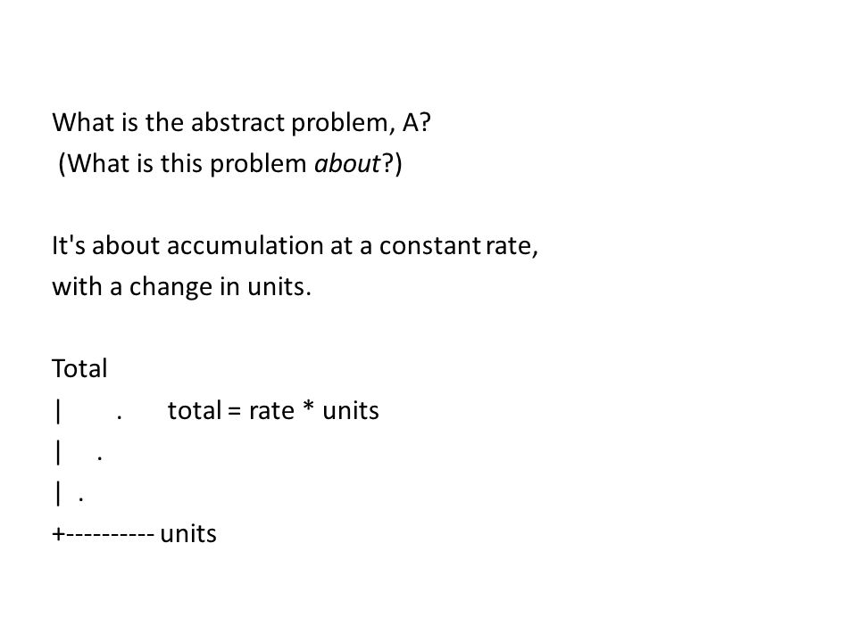 What is the abstract problem, A.