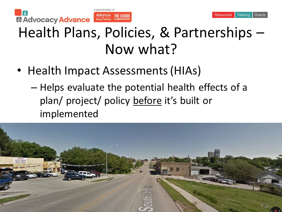 Health Plans, Policies, & Partnerships – Now what.