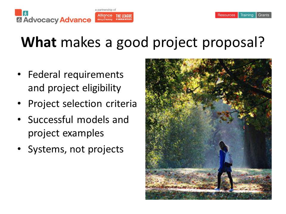 What makes a good project proposal.
