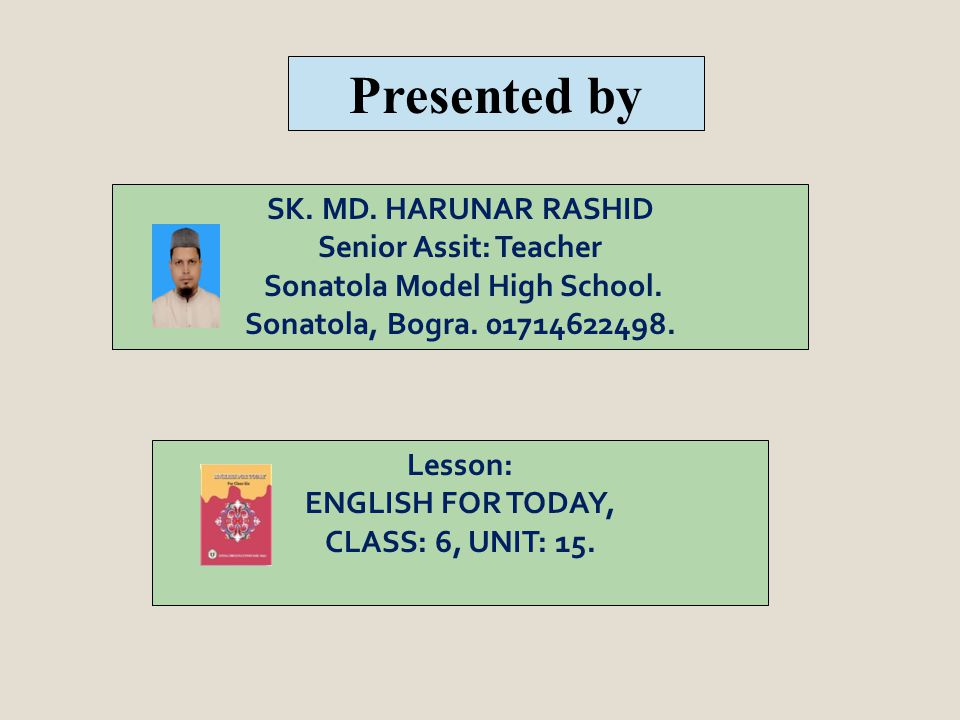 Lesson: ENGLISH FOR TODAY, CLASS: 6, UNIT: 15.SK.