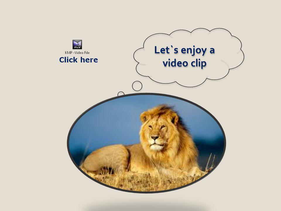 Let`s enjoy a video clip Click here
