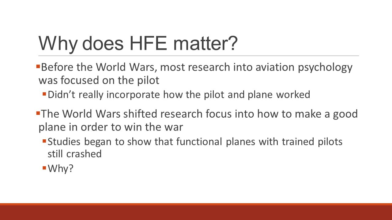 Why does HFE matter.