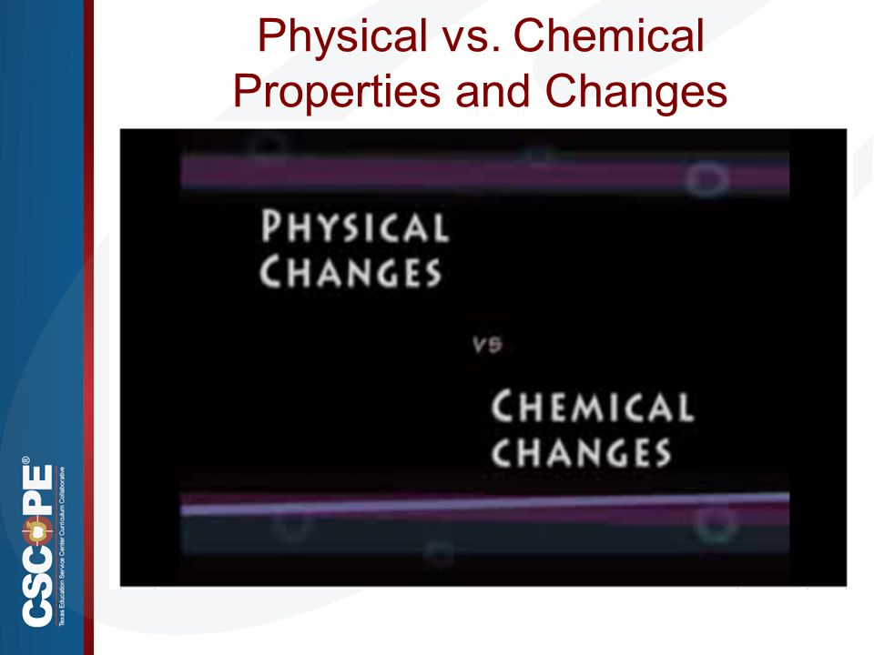 Physical vs. Chemical Properties and Changes