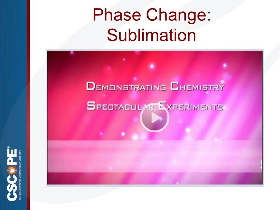 Phase Change: Sublimation