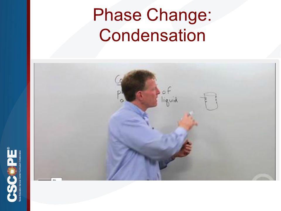 Phase Change: Condensation