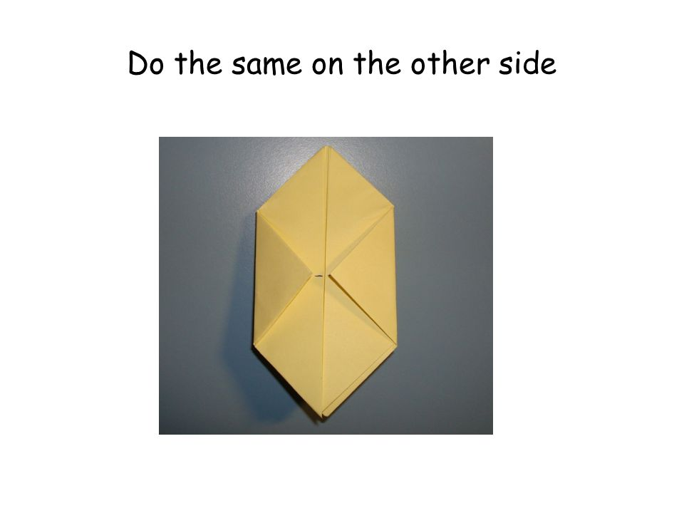 Do the same on the other side